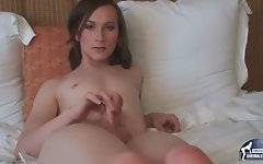 Good looking tranny Texi is playing her craving cock for camera.